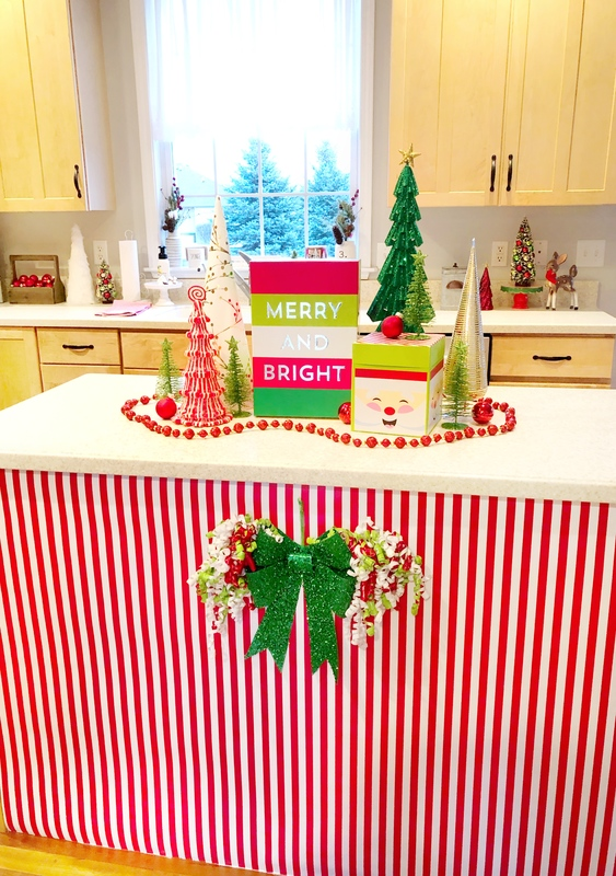 Decorating Your Kitchen Island For Christmas With Hobby