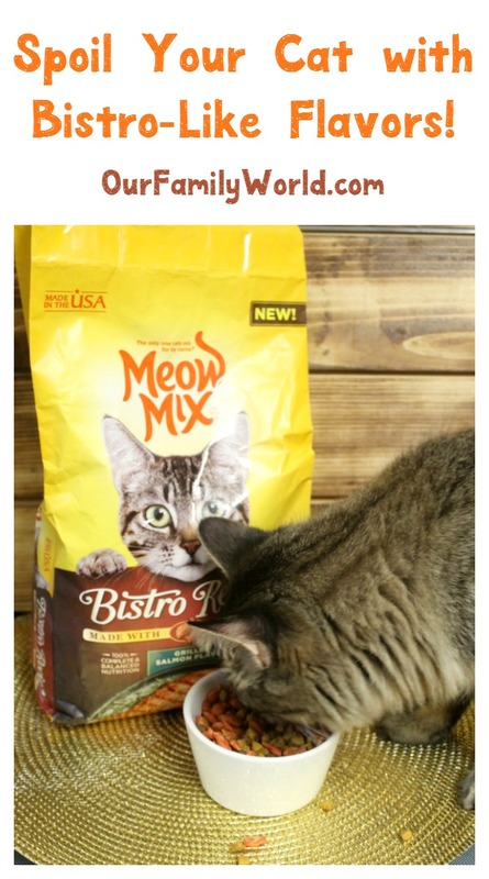 Spoil your cats with the delicious bistro-like flavors of Meow Mix Bistro! Check out our review and see how the Fuzz loved it.