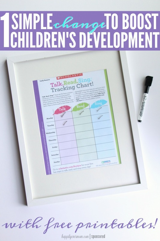 Love this printable! What an easy way to track this with our kids. It really is something that is so important for our little one's brains - worth tracking like this and I LOVE the frame with the white erase market! #First5CA #ad