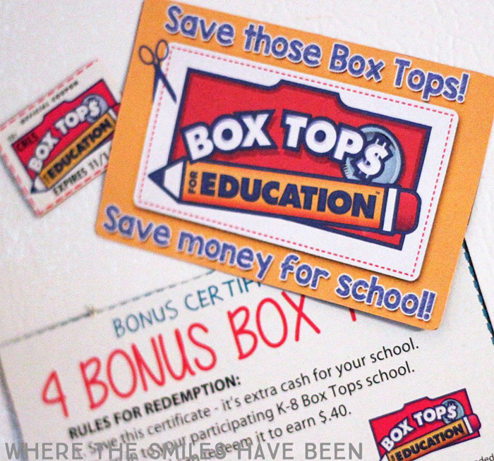 This printable would also be awesome to use at school on bulletin boards or in newsletters! DIY Box Tops Reminder Magnets with FREE Cut File & Printable | Where The Smiles Have Been
