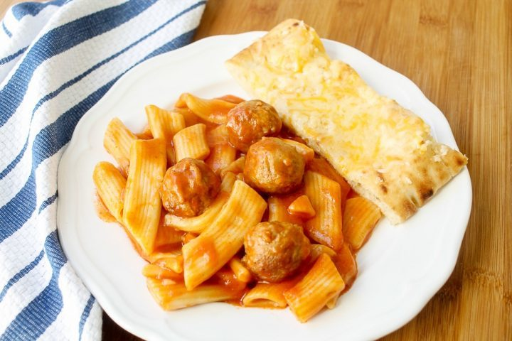 penne pasta and meatballs dinner recipe