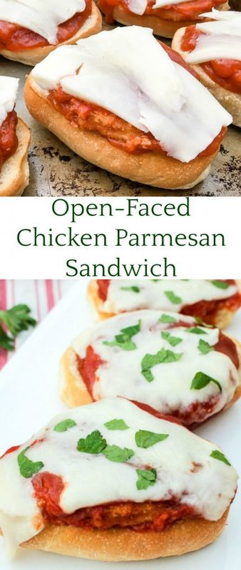 Open-Faced Chicken Parmesan Sandwich Recipe
