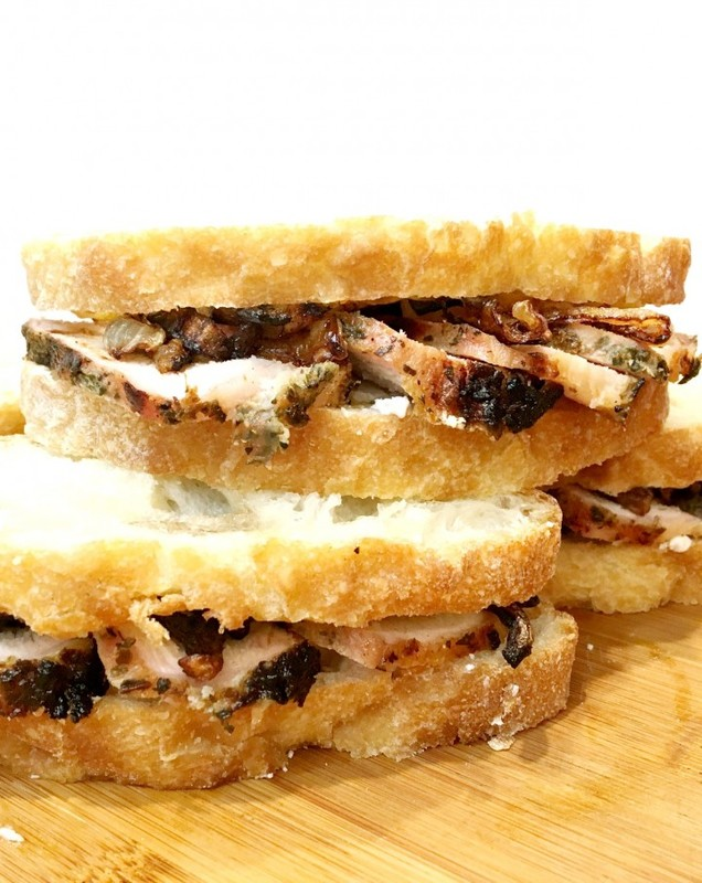 garlic-herb-pork-sandwiches-with-fig-and-goat-cheese