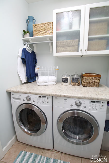 10 storage ideas for small laundry rooms scattered - Small laundry room ideas ...