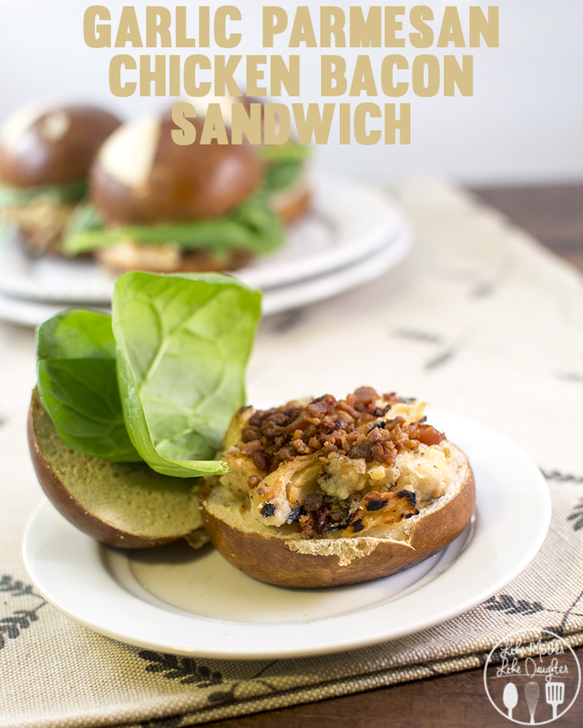 Garlic Parmesan Chicken and Bacon Sandwich - This delicious sandwich is the perfect combination of flavors for a tasty and delicious sandwich!