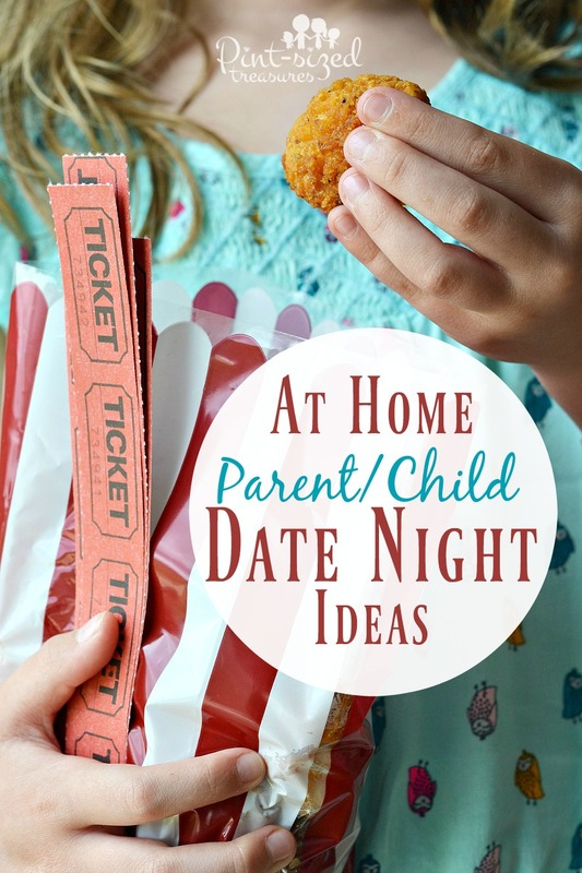 These simple and sweet at home parent/child date night ideas are perfect to show each child they matter!