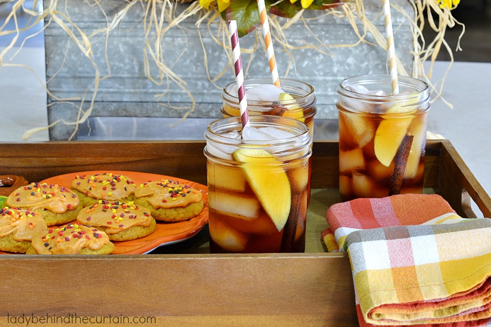 Tea Time In The Fall | Create family memories with a glass of refreshing iced tea!