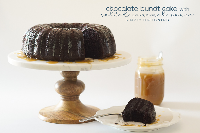 Chocolate Bundt Cake with Salted Caramel Sauce Recipe