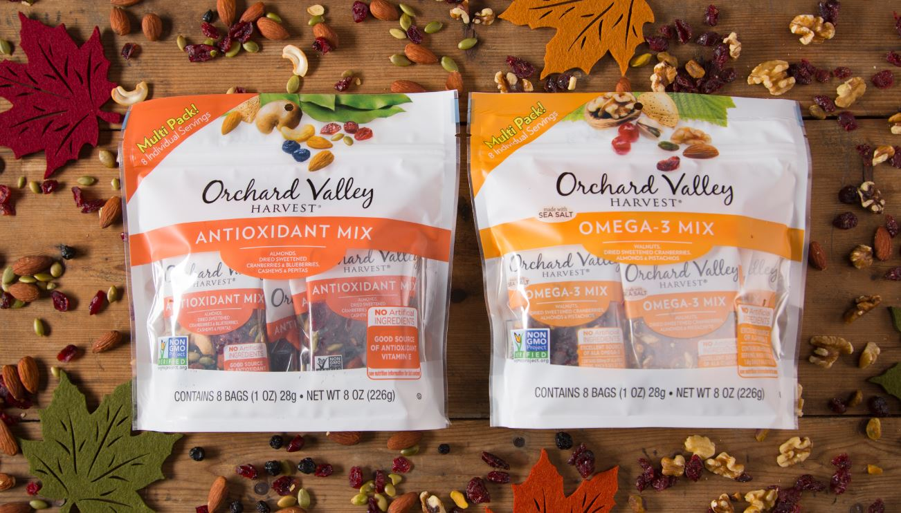 Orchard Valley Harvest Antioxidant and Omega-3 Wellness Mixes in Multi Pack Sizes #OVHsnacks
