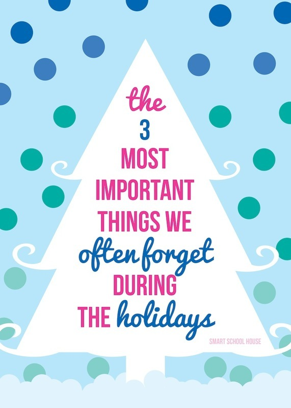 3 Things to Remember During the Holidays