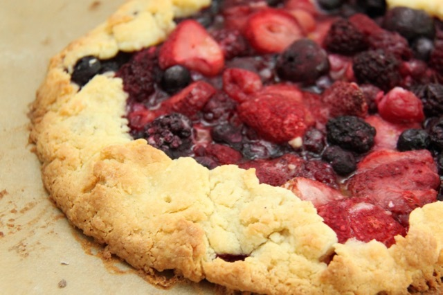 Gluten Free Rustic Berry Galette Recipe // SmashedPeasandCarrots.com