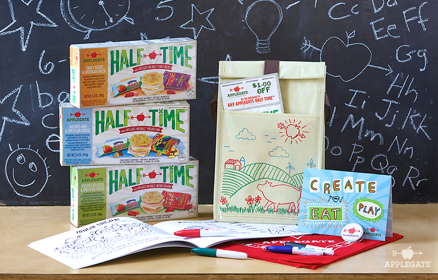 Applegate, HALF TIME, Kids lunch, Lunch Notes for Kids