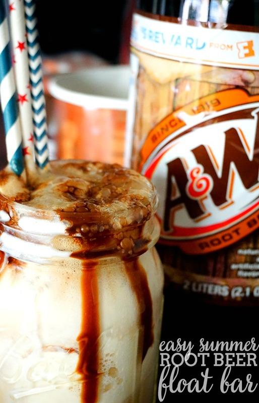 Indulge your family this summer with a simple and tasty way to beat the heat - A&W Root Beer Float Bar! | The Love Nerds #AD