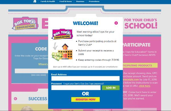 Support Education with eBoxTops at Sam's Club
