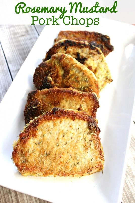 Mustard Rosemary Pork Chops Recipe- This Mama Loves
