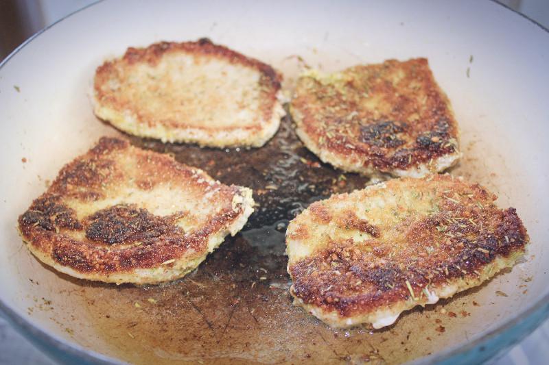 mustard rosemary pork chop fry