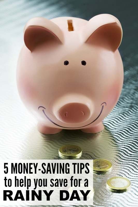 5 money-saving tips to help save for a rainy day