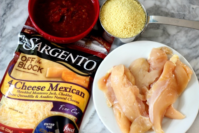 Cheesy Mexican Couscous Chicken #ChoppedAtHome