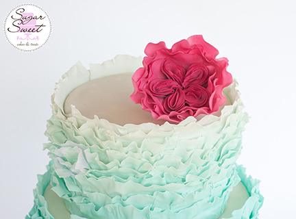 Gumpaste Cabbage Rose by Sugar Sweet Cakes and Treats
