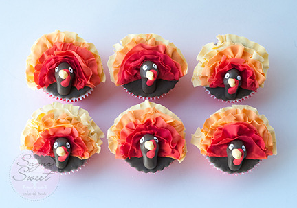Thanksgiving Fall Autumn Turkey Cupcakes By Angela Tran (top)