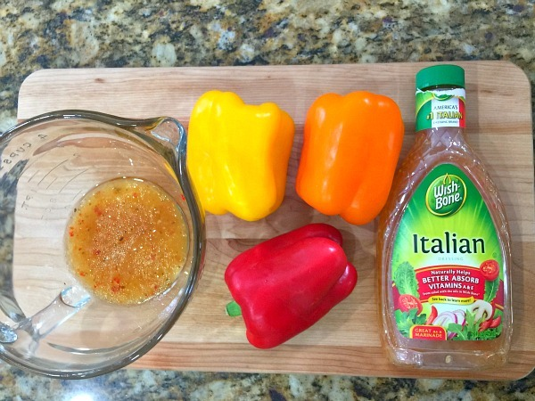 Peppers in Wish Bone Italian Dressing - tastes great