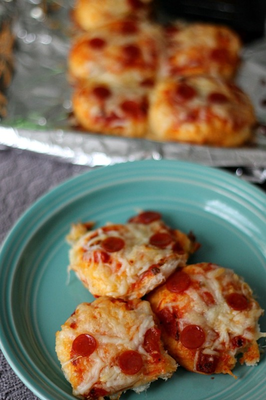 Pepperoni Biscuit Pizzas