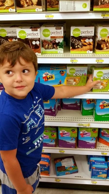 Picking up Zone Perfect Kidz at Target