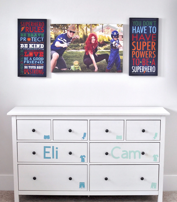 Such a good idea! Use your cricut to cut vinyl labels for your kids' dresser so they know what items go in each drawer.