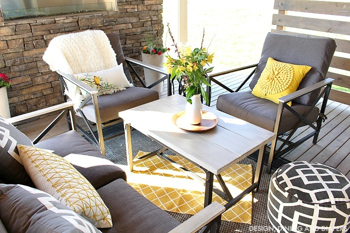 Yellow and Gray outdoor space