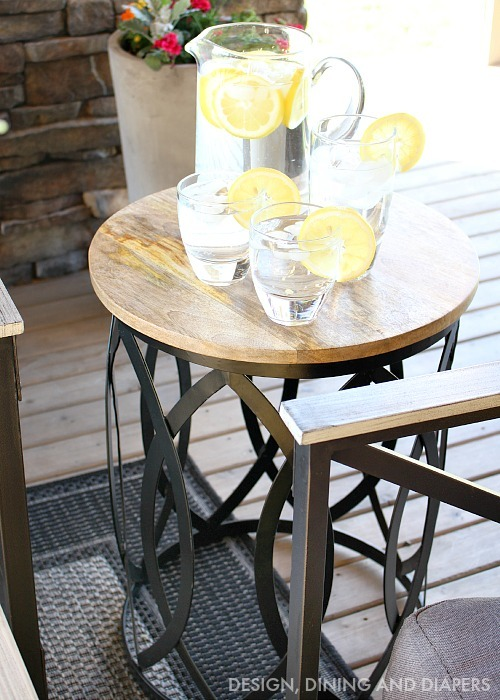 Lemon Water on Side Table
