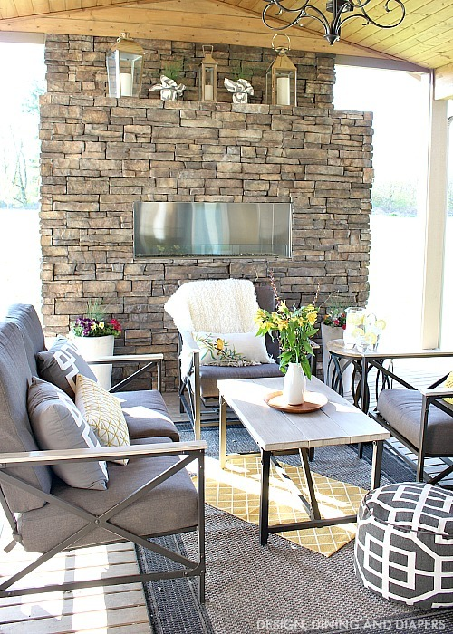Summer Outdoor Living Space