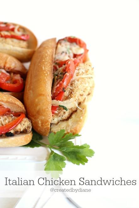 Italian Chicken Sandwiches @createdbydiane