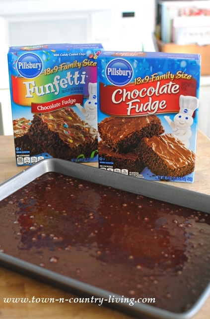 Mixing Up Brownies for Valentine's Day