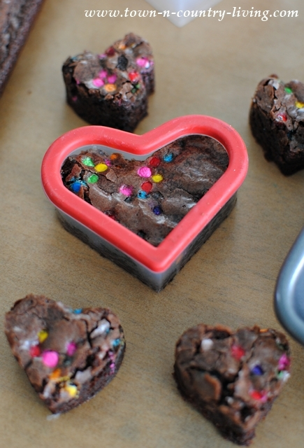 Heart Shaped Brownies for Valentine's Day