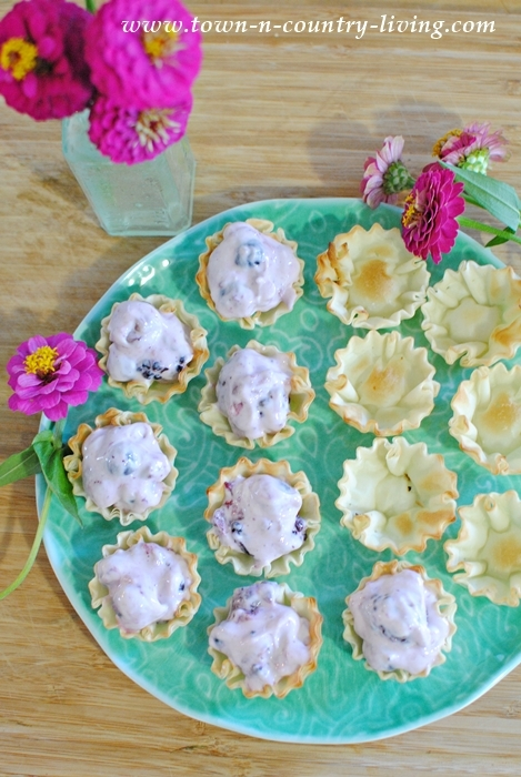 Mini Cream Cheese Fruit Tarts made with Welch's Frozen Fruit