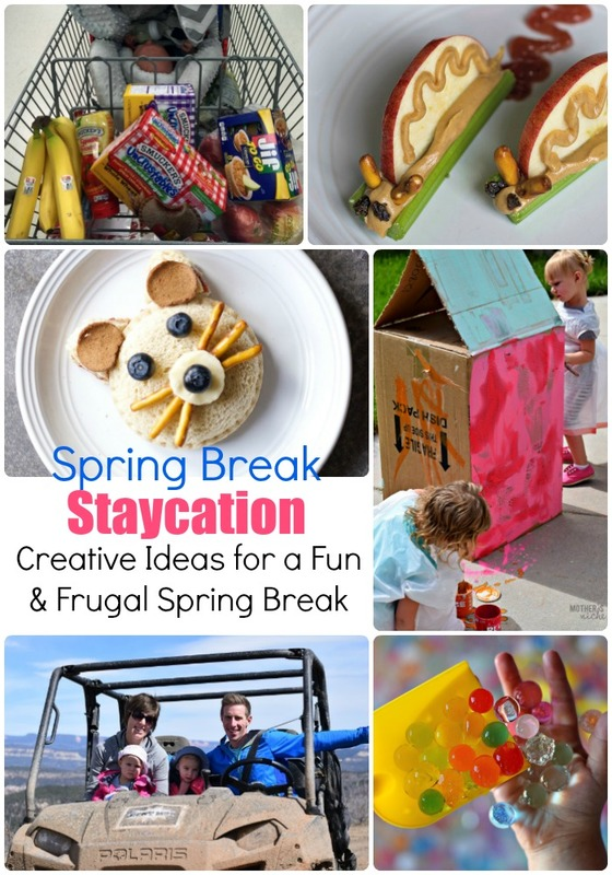 Spring Break Staycation Ideas: you don't have to go on vacation for the kids to have a fun & memorable week