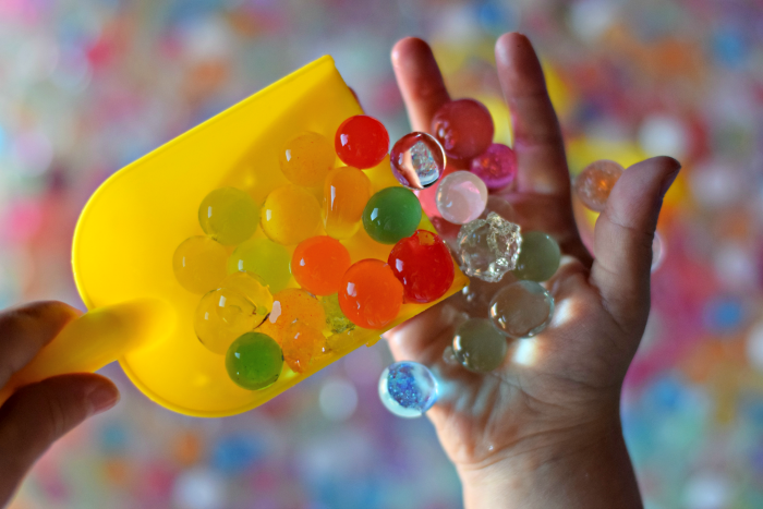 Fun Activities Using Water Beads. Such a great sensory/development activity!