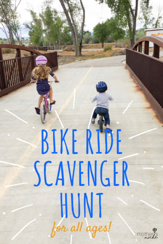 Bike Ride Scavenger hunt