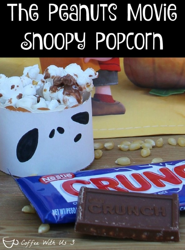 Get ready for the new #peanutsmovie with this super cute & delicious popcorn snacks! Plus be sure to get your Peanuts Movie Trick or Treat Bags at Albertsons now! #sponsored