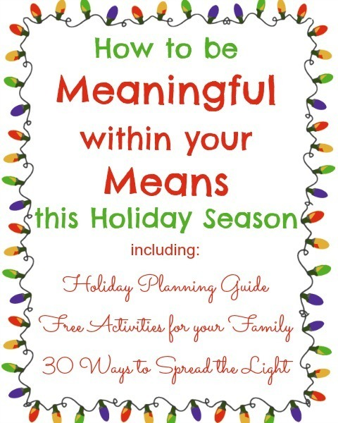Celebrating Christmas | Being Meaningful Within Your Means