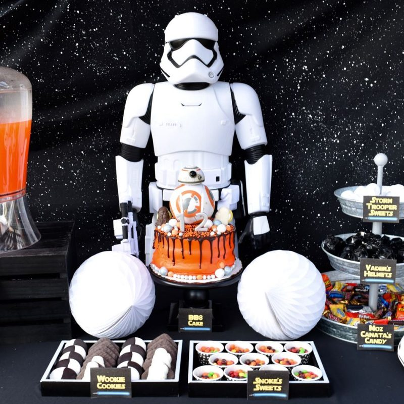 Star Wars The Force Awakens birthday party food