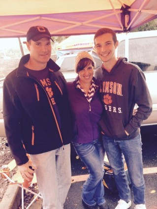 alex me and Mike tailgating at the Clemson game